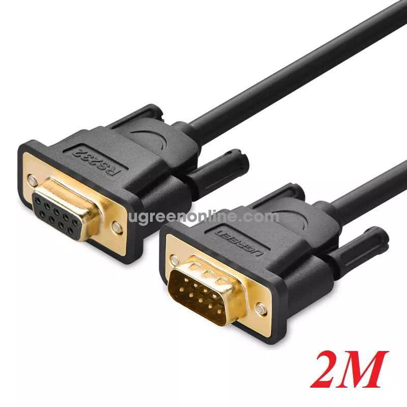 Ugreen 20146 2m db9 rs 232 adapter cablemale to female db101