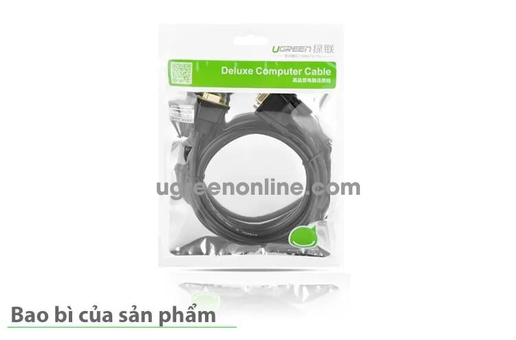 Ugreen 20156 5m db9 rs 232 adapter cablemale to male db101