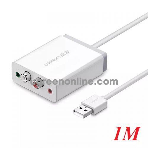 Ugreen 30521 usb external sound card adapter 1m 30521