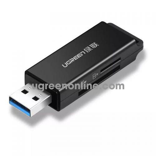 Ugreen 40752 usb 3.0 to tf + sd card readerdual card dual read black cm104