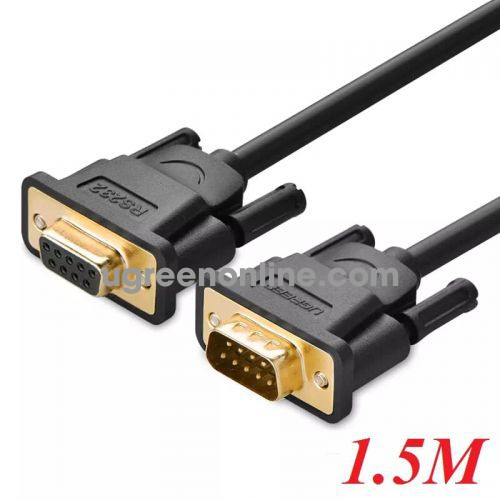 Ugreen 20145 1.5m db9 rs 232 adapter cablemale to female db101