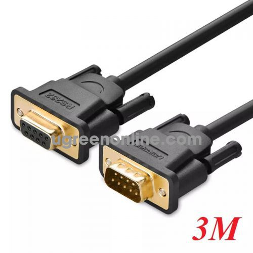 Ugreen 20147 3m db9 rs 232 adapter cablemale to female db101