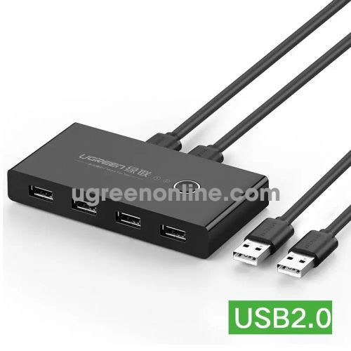 Ugreen 30767 2 in 4 out usb2.0 sharing switch box usb 2.0 us216