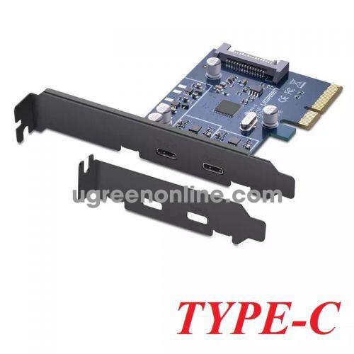 Ugreen 30773 pci e to 2 x type c converter card us230