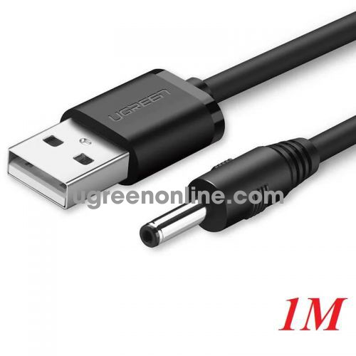 Ugreen 10376 1m USB A to DC 3.5mm Power Cable BLACK 10376 10010376