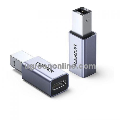 Ugreen 20120 USB2.0 B Male to type c female Adapter Aluminum Case US382 10020120