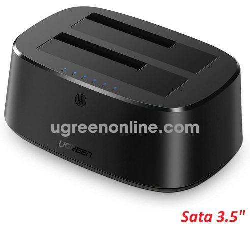 Ugreen 50857 16Tb EU Black USB 3.0 to SATA Dual Bay total 32tb support Hard Drive Docking Station CM198 10050857