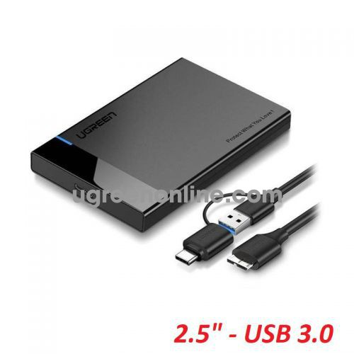 Ugreen 60734 6Tb Black USB 3.0 and USB Type-C To 2.5