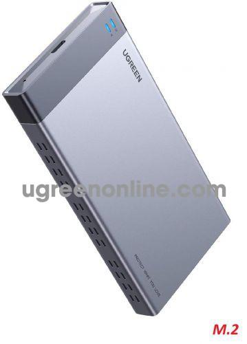 Ugreen 70534 B KEY 6Gbps M.2 SATA Dual Bay Raid Enclosure CM299 10070534