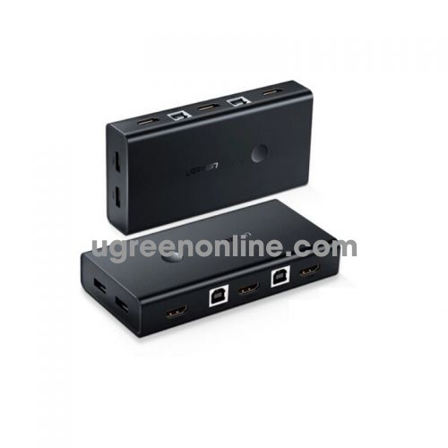 Ugreen 50744 hdmi 2x1 kvm switcher 2 port đen cm200