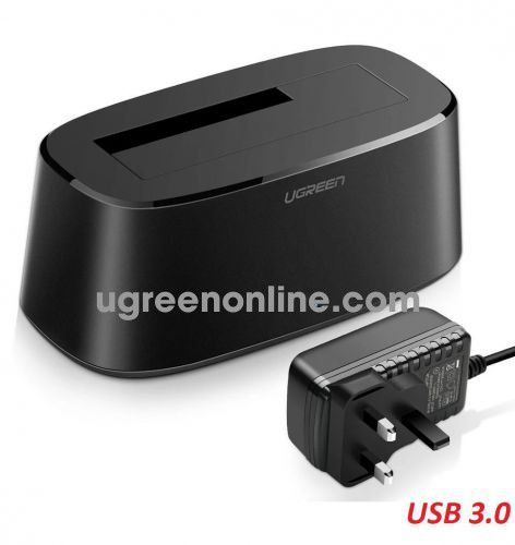 Ugreen 50847 USB 3.0 Hard Drive Docking Station hdd Disk Dock with UK Power black CM197 10050847