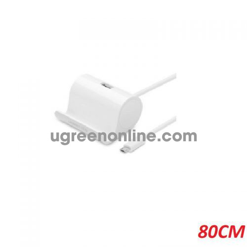 Ugreen 30307 0.8m white Micro Usb OTG docking stand Cable with Stand US151 10030307