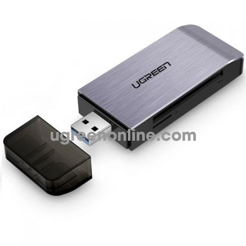 Ugreen 50540 Gray USB 3.0 TO SD TF CF MS MEMORY CARD READER SUPPORT SIMULTANEOUS READ CM180