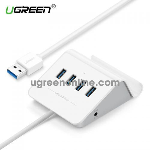 Ugreen 20279 4 ports usb 3.0 hub with cradle with 5v2a power adapter màu trắng cr109