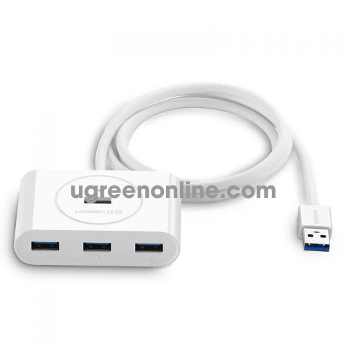 Ugreen 20283 0.8m usb 3.0 hub with powwer port màu trắng 80cm cr113 10020283