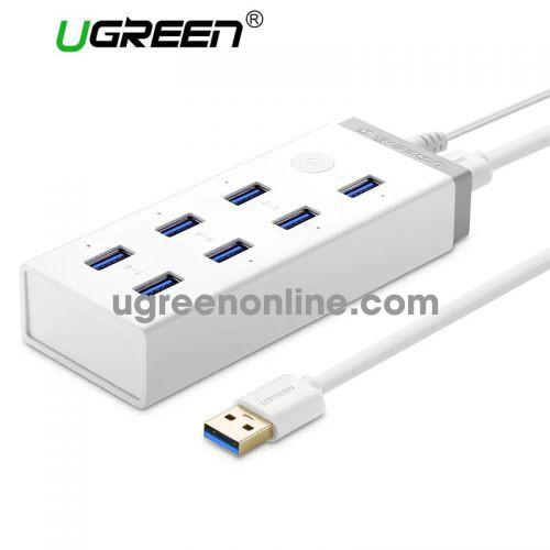 Ugreen 20296 7 ports usb 3.0 charging hub màu trắng cr116
