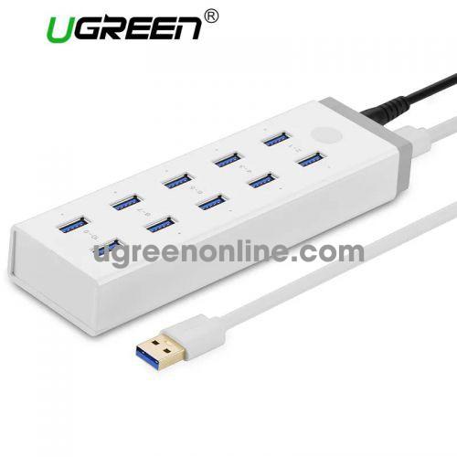 Ugreen 20297 10 ports usb 3.0 charging hub màu trắng cr117