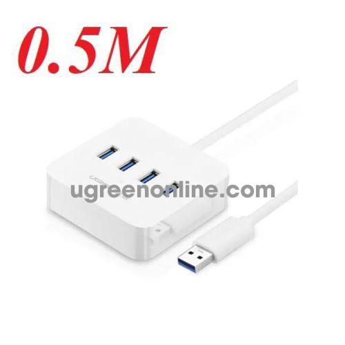 Ugreen 30201 50cm màu trắng usb 3.0 4 ports hub 0.5m cr118