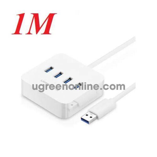 Ugreen 30202 1m usb 3.0 4 ports hub trắng cr118