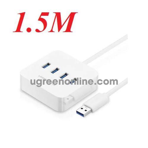 Ugreen 30221 1.5m màu trắng usb 3.0 4 ports hub cr118