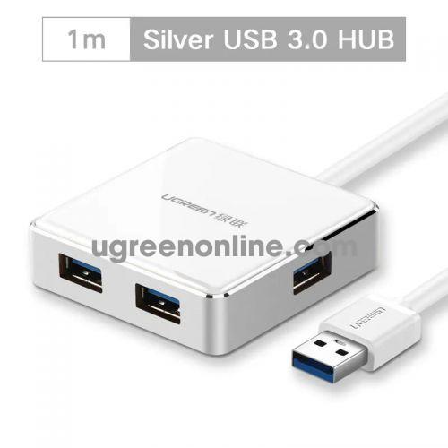 Ugreen 20790 1m usb 3.0 4 port hub màu trắng us168