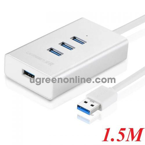 Ugreen 30236 50cm usb 3.0 4 ports hub aluminum case 0.5m white cr126 10030236