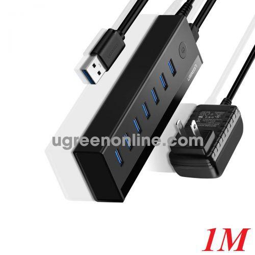 Ugreen 40521 1M 7 Port USB 3.0 Hub 5V Power Supply US Black US219 10040521