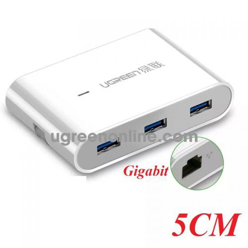 Ugreen 30281 Usb To Rj45 Gigabit With Usb 3.0 Hub White Us149